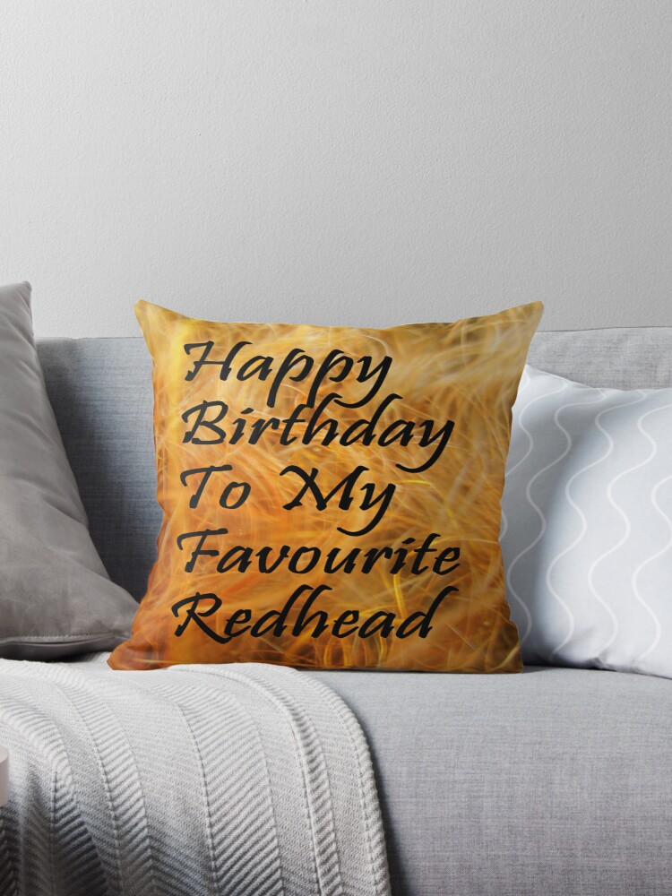 Happy birthday sexy redhead