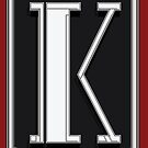 Deco Cafe Marquee  Monogram  letter K by CecelyBloom
