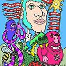 The Chuckle heads poster art by Brett Gilbert
