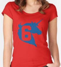 Unicorn Design - New York (Blue) Women's Fitted Scoop T-Shirt