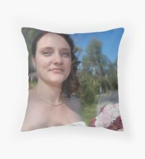 Bridal Radial Blur Throw Pillow