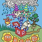 The chuckleheads poster art by Brett Gilbert