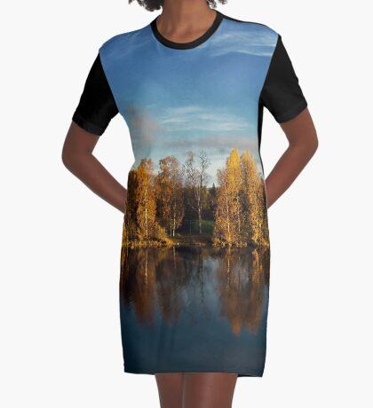 Autumn in Oulu Graphic T-Shirt Dress
