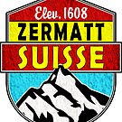 Zermatt Suisse Switzerland Skiing Climbing Hike Mountains Ski Matterhorn by MyHandmadeSigns