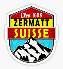 Zermatt Suisse Switzerland Skiing Climbing Hike Mountains Ski Matterhorn Sticker