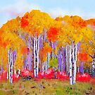Autumn Birch by Mike Prout