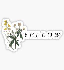"""Yellow"" Album Design Sticker"