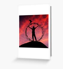 Canon Of Freedom Greeting Card
