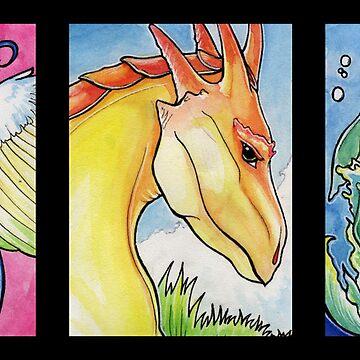 Three Dragons by Katelin