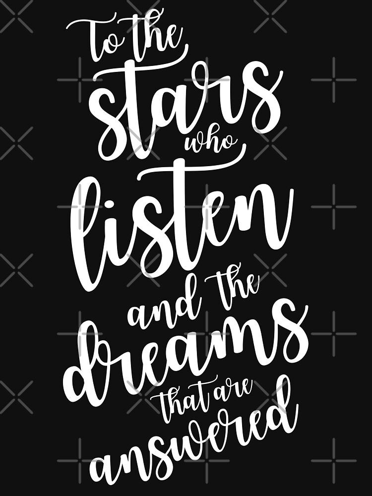 Zu den Sternen, die zuhören und die Träume, die beantwortet werden - Klartext von yairalynn
