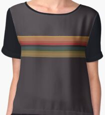 Doctor Who 13th Doctor Rainbow Stripes T-Shirt Cosplay (Accurate Colours) Women's Chiffon Top