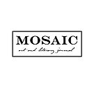 White Mosaic Logo - simple by mosaiczine