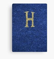 Knitted 'H' Canvas Print