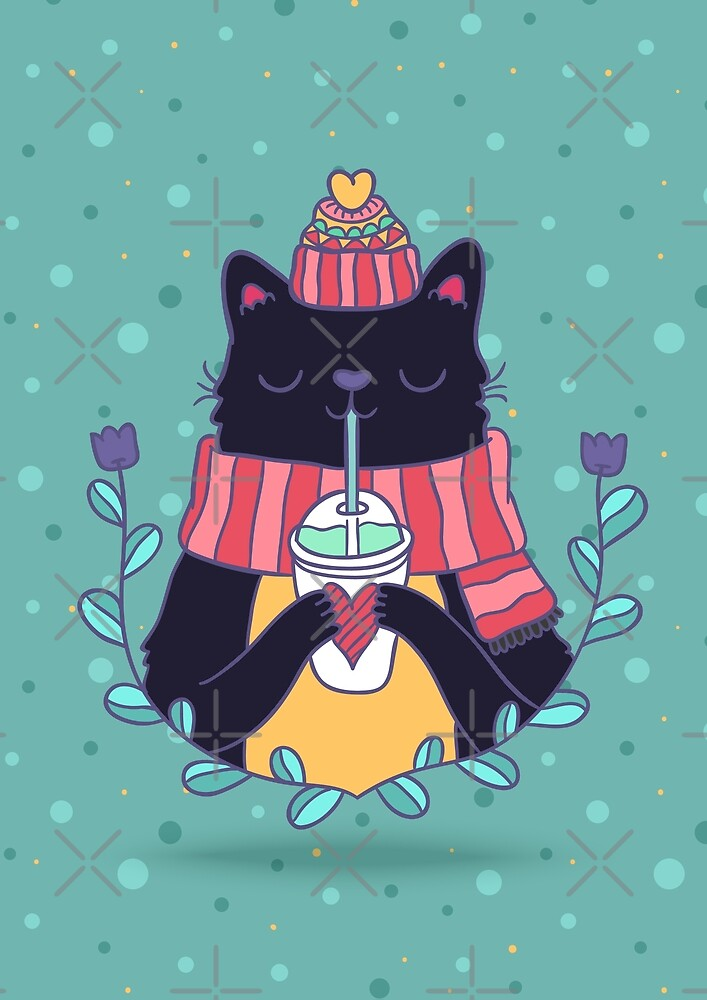 Winter cat by Anna Alekseeva
