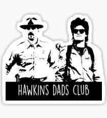 hawkins dads club Sticker