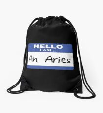 Hello I am an Aries Drawstring Bag