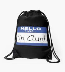 Hello I am an aunt Drawstring Bag