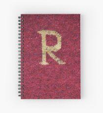 Knitted 'R' Spiral Notebook