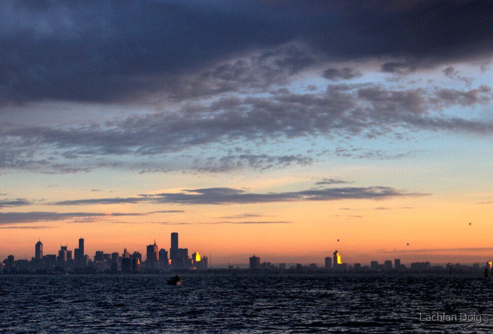 Typical melbourne sunrise by Lachlan Doig