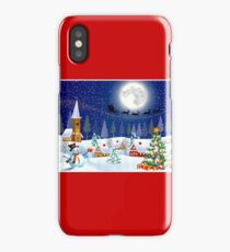 CHRISTMAS : Winter Country Scene Print iPhone Case/Skin