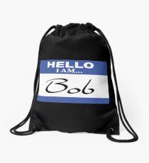 Hello I am Bob Drawstring Bag