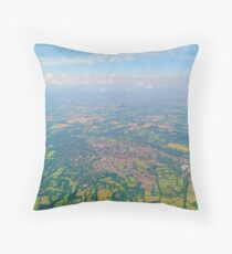 England from above Throw Pillow