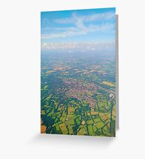 England from above Greeting Card