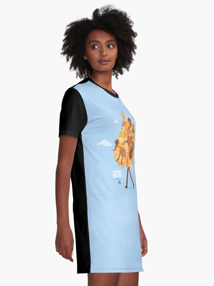 Alternate view of Dog Collector Graphic T-Shirt Dress