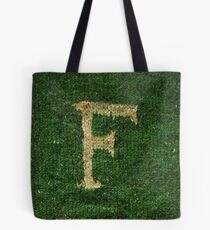 Knitted 'F' Tote Bag