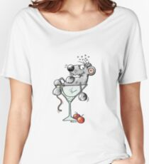 Happy Hour Cocktail Mouse - Gift - Cartoon - Party Women's Relaxed Fit T-Shirt
