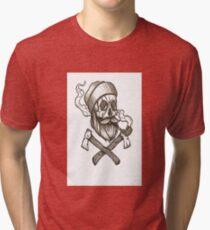 Lumber Jack Skull Tri-blend T-Shirt