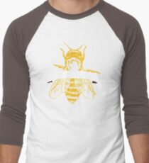 Save The Bees! (Dark) Men's Baseball ¾ T-Shirt