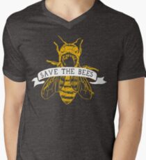 Save The Bees! (Dark) V-Neck T-Shirt
