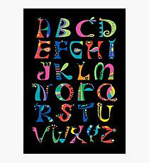 surreal alphabet black Photographic Print