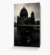 Urbanex 20 Berliner Dom Dark Black and White Grußkarte
