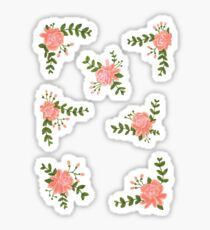 floral pack of 7 Sticker