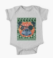Pug Pirate Ugly Christmas Pattern  Kids Clothes