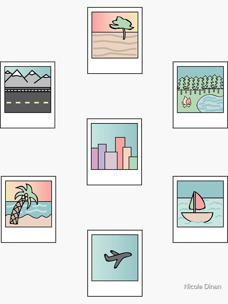 paquete de fotografías en colores pastel de 7 de nd431415