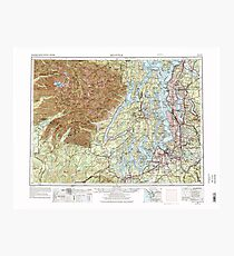 USGS Topo Map Washington State WA Seattle 243646 1958 250000 Photographic Print
