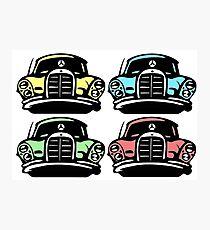 Classic Multicolor MBZ Car Pattern Photographic Print