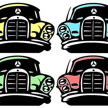 Classic Multicolor MBZ Car Pattern by mbz-tech