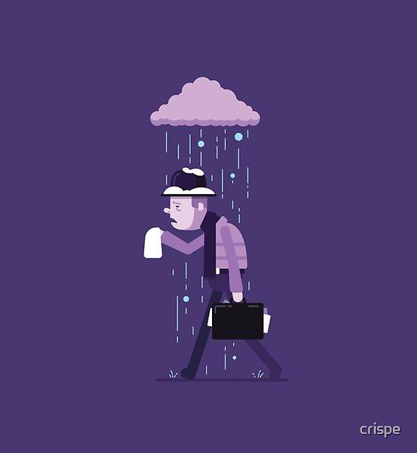 Gefühl unter dem Wetter von crispe