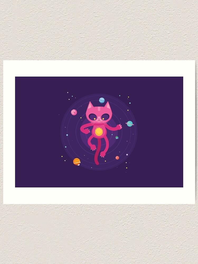 Alternate view of God is a Cat Art Print
