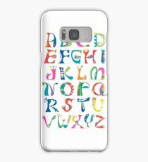 surreal alphabet white Samsung Galaxy Case/Skin
