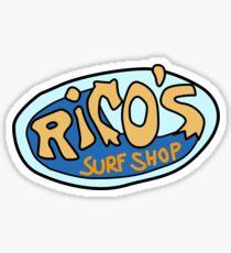 Ricos Surfshop Glänzender Sticker