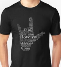 Love In Every Language American Sign Language  Unisex T-Shirt