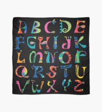 surreal alphabet black Scarf