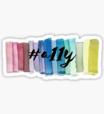 #a11y Watercolor Sticker
