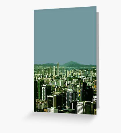 seoul view Greeting Card