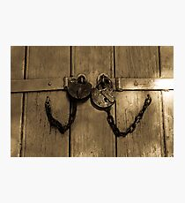 Locked And Chained Together Photographic Print